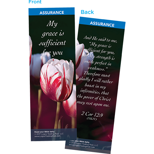 My Grace is Sufficient for You Bookmarks, Pack of 25 - Christian Bookmarks