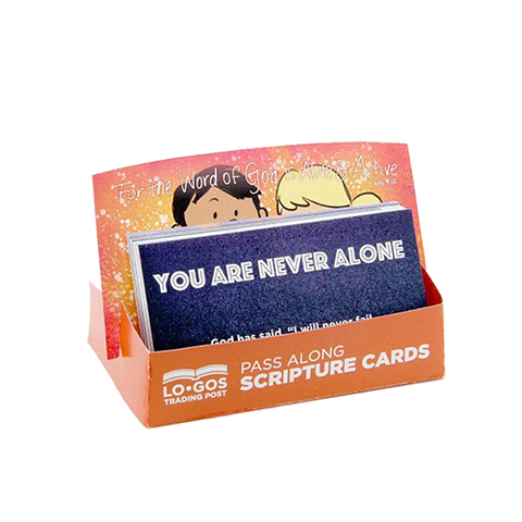 Children's Pass Along Scripture Cards - You Are Never Alone, Pack of 25 - With Stand