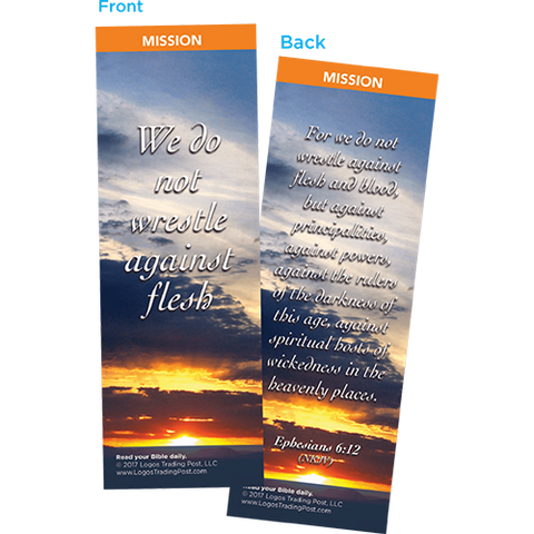 We Do Not Wrestle Against Flesh Bookmarks, Pack of 25 - Christian Bookmarks