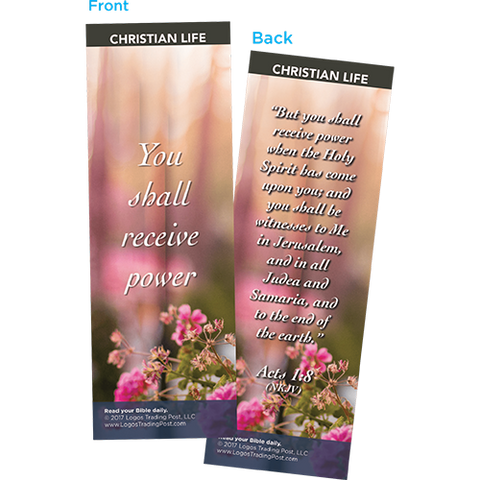 You Shall Receive Power Bookmarks, Pack of 25 - Christian Bookmarks