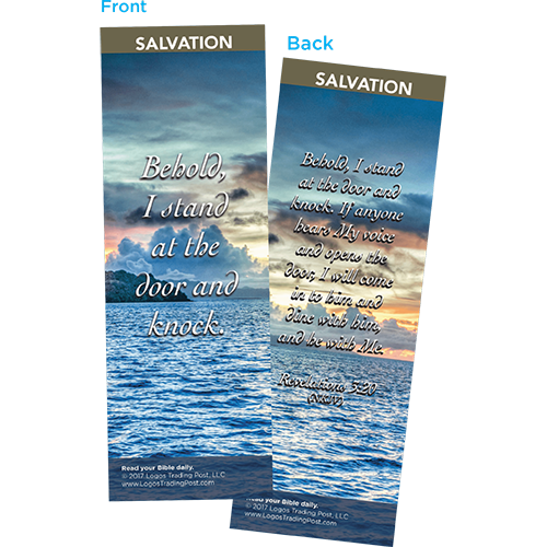 Behold, I Stand at the Door and Knock Bookmarks, Pack of 25 - Christian Bookmarks