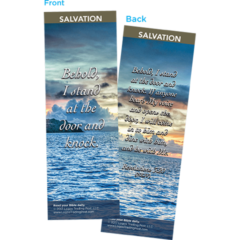 Behold, I Stand at the Door and Knock Bookmarks, Pack of 25