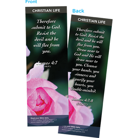 Therefore Submit to God Bookmarks, Pack of 25 - Christian Bookmarks