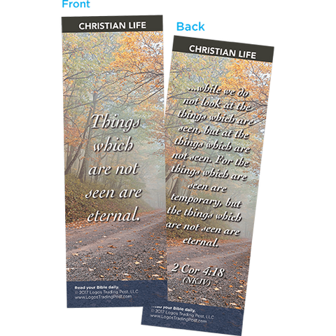 Things Which Are Not Seen Are Eternal Bookmarks, Pack of 25 - Christian Bookmarks