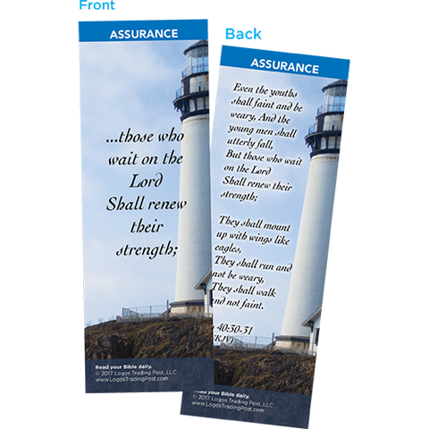 Those Who Wait on the Lord Shall Renew Their Strength Bookmarks, Pack of 25 - Christian Bookmarks
