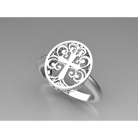 Sterling Silver Tree of Life Ring, Christian Symbol of the Elegance of Creation