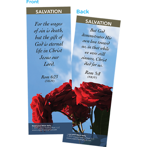 For the Wages of Sin is Death Bookmarks, Pack of 25 - Christian Bookmarks
