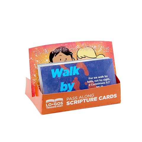 Children's Pass Along Scripture Cards - Walk by Faith, Pack of 25 - With Stand
