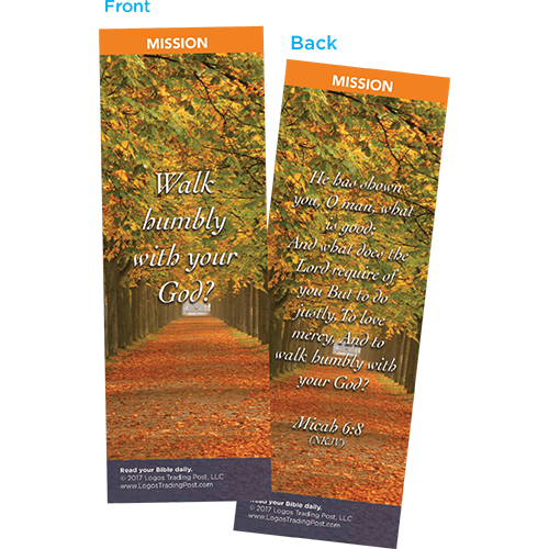 Walk Humbly With Your God Bookmarks, Pack of 25 - Christian Bookmarks