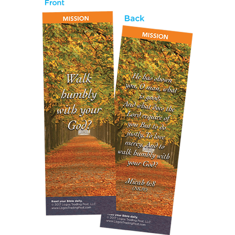 Walk Humbly With Your God Bookmarks, Pack of 25