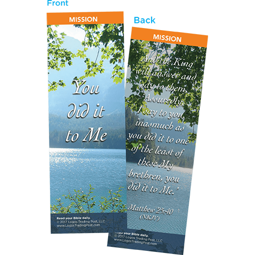 You Did It To Me Bookmarks, Pack of 25 - Christian Bookmarks