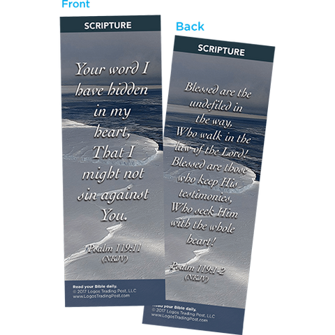 Your Word I Have Hidden in My Heart Bookmarks, Pack of 25 - Christian Bookmarks