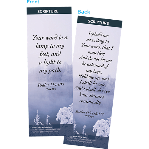 Your Word is a Lamp to My Feet Bookmarks, Pack of 25 - Christian Bookmarks