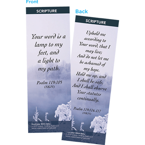 Your Word is a Lamp to My Feet Bookmarks, Pack of 25