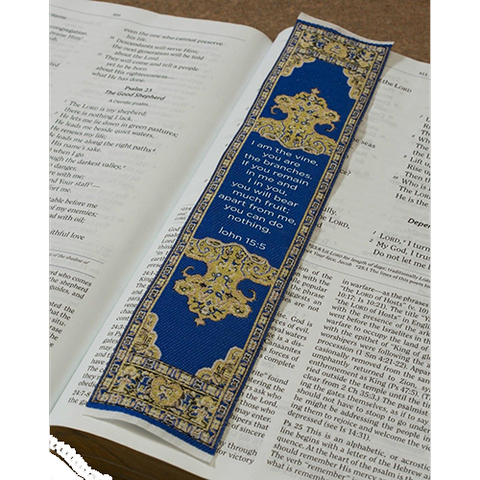 Logos Bookmark - Abide in Me - John 15:5