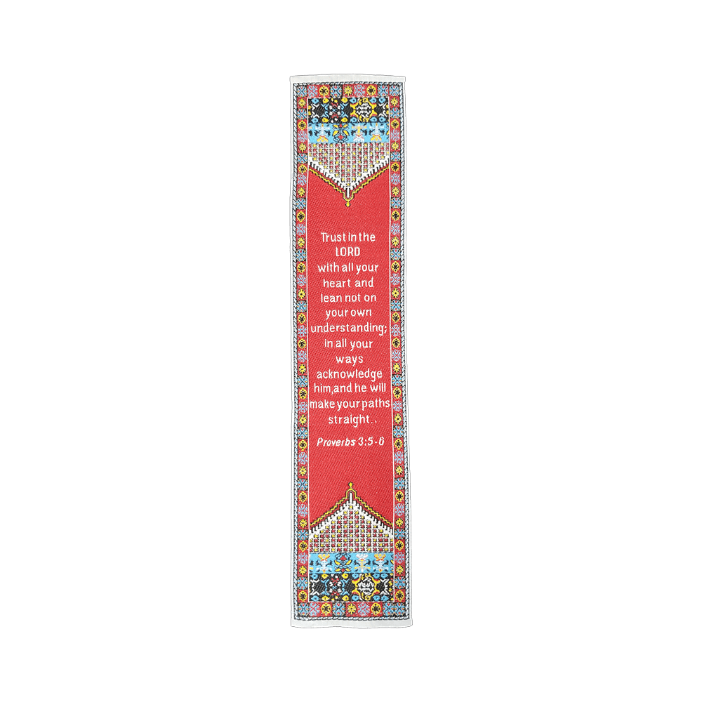 Fabric Bookmark Assortment #4 - 4 Woven Logos Bookmarks - Logos Trading Post, Christian Gift