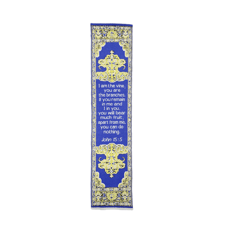 Fabric Bookmark Assortment #5 - 4 Woven Logos Bookmarks - Logos Trading Post, Christian Gift