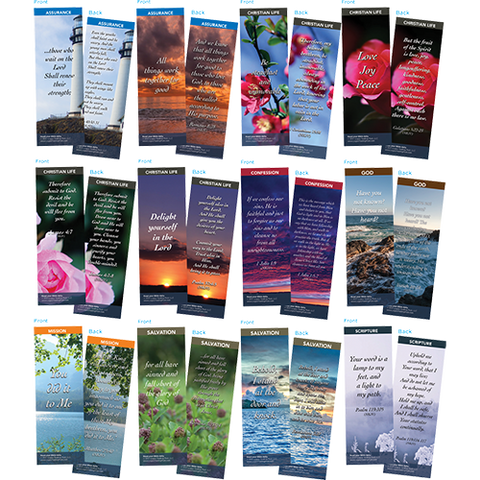 Bible Verse Bookmarks Variety Pack of 60 - Assortment 4