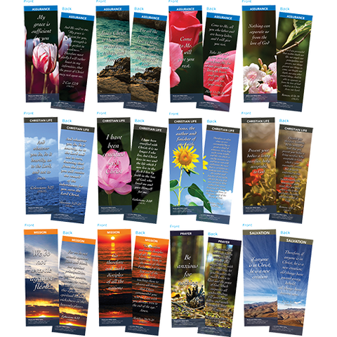 Bible Verse Bookmarks Variety Pack of 60 - Assortment 6