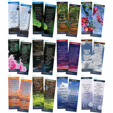 Bible Verse Bookmarks Variety Pack of 60 - Assortment 8