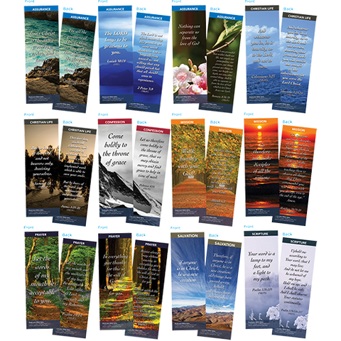 Bible Verse Bookmarks Variety Pack of 60 - Assortment 10