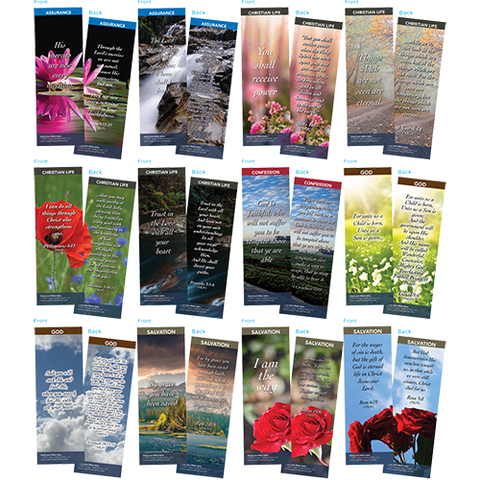 Bible Verse Bookmarks Variety Pack of 60 - Assortment 12