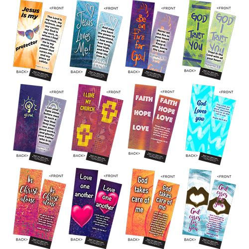 Children's Memory Verse Bookmarks, Variety Pack of 60 - Logos Trading Post, Christian Gift
