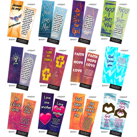 Children's Memory Verse Bookmarks, Variety Pack of 60