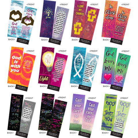 Children's Memory Verse Bookmarks, Variety Pack of 60 - Assortment 5