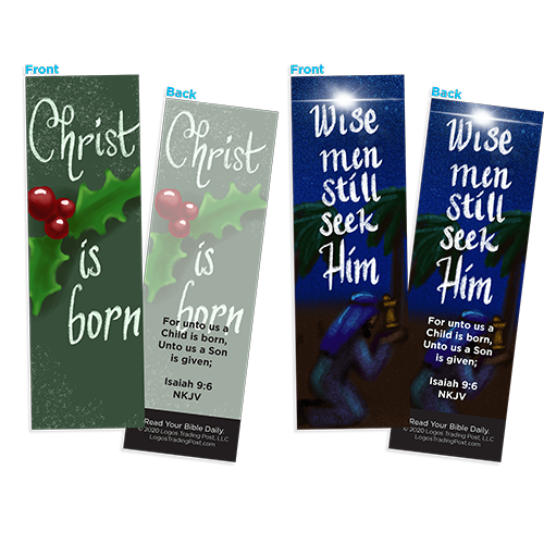 Christmas Spirit Bookmark Variety Pack Assortment, Holiday Season Special