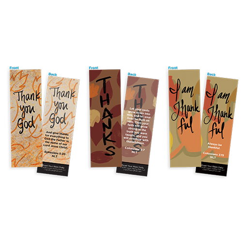 Thanksgiving Bookmark Variety Pack Assortment, Fall Season Special - Christian Bookmarks