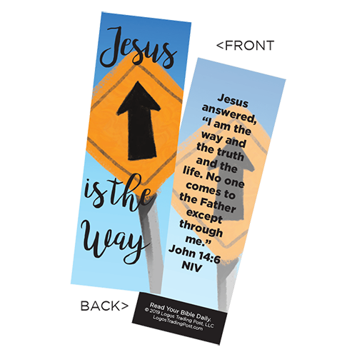 Children's Christian Bookmark, Jesus is the Way, John 14:6 - Pack of 25 - Christian Bookmarks
