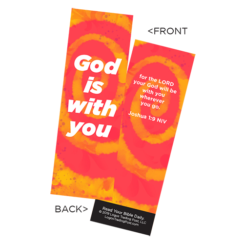 Children's Christian Bookmark, God is With You, Joshua 1:9 - Pack of 25