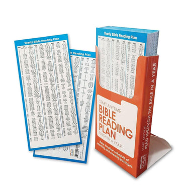 One Year Bible Reading Plan Card - 6 Different Quantities - Logos Trading Post, Christian Gift