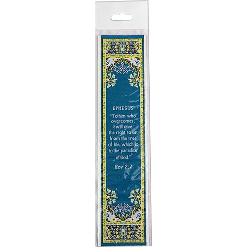 Woven Fabric Christian Bookmark : Promises of the Seven Churches of Revelations - Revelations 2:7 Bookmark