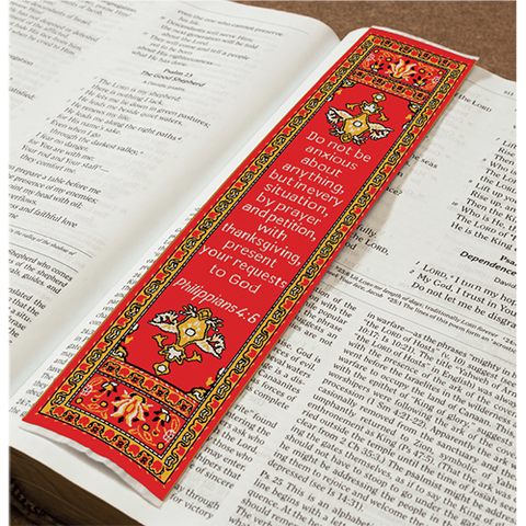 Logos Bookmark - Be Anxious for Nothing - Philippians 4:6