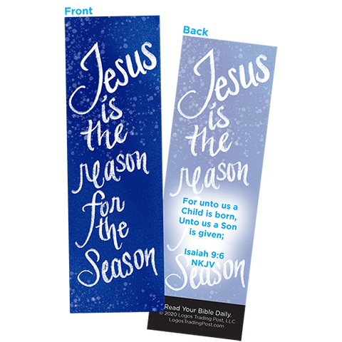 Children and Youth Bookmark, Christmas, Jesus is the Reason for the Season, Isaiah 9:6, Pack of 25, Handouts for Classroom, Sunday School, and Bible Study