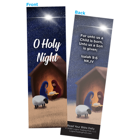 Children and Youth Bookmark, Christmas, O Holy Night, Isaiah 9:6, Pack of 25, Handouts for Classroom, Sunday School, and Bible Study
