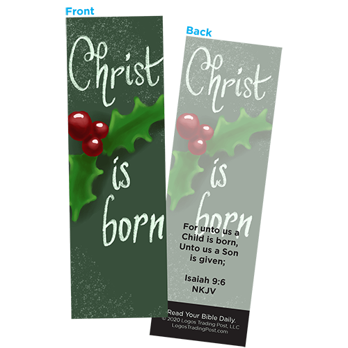 Children and Youth Bookmark, Christmas, Christ is Born, Isaiah 9:6, Pack of 25, Handouts for Classroom, Sunday School, and Bible Study