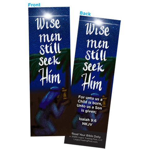 Children and Youth Bookmark, Christmas, Wise Men Still Seek Him, Isaiah 9:6, Pack of 25, Handouts for Classroom, Sunday School, and Bible Study