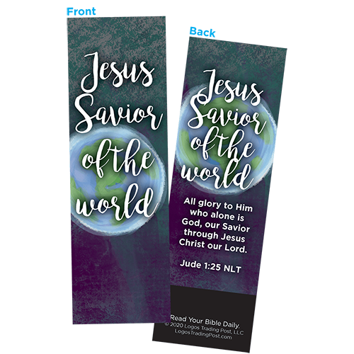 Children and Youth Bookmark, Jesus Savior of the World, Jude 1:25, Pack of 25, Handouts for Classroom, Sunday School, and Bible Study