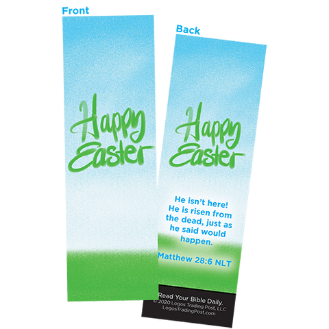 Children and Youth Bookmark, Happy Easter, Matthew 28:6, Pack of 25, Handouts for Classroom, Sunday School, and Bible Study