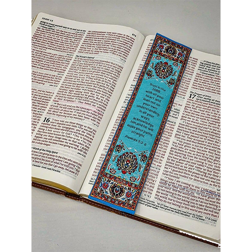 Lo•gos BookMark Proverbs 3:5-6 - Blue, Trust in the Lord
