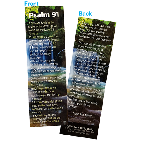 Psalm 91 - The Lord is My Refuge Bookmarks, Pack of 50 - Christian Bookmarks