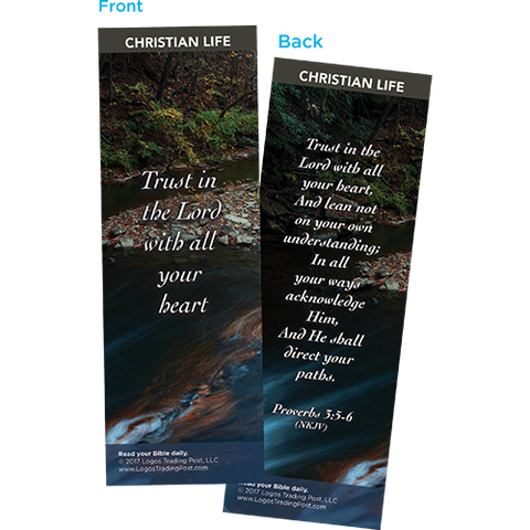 Trust in the Lord with All Your Heart Bookmarks, Pack of 25 - Christian Bookmarks