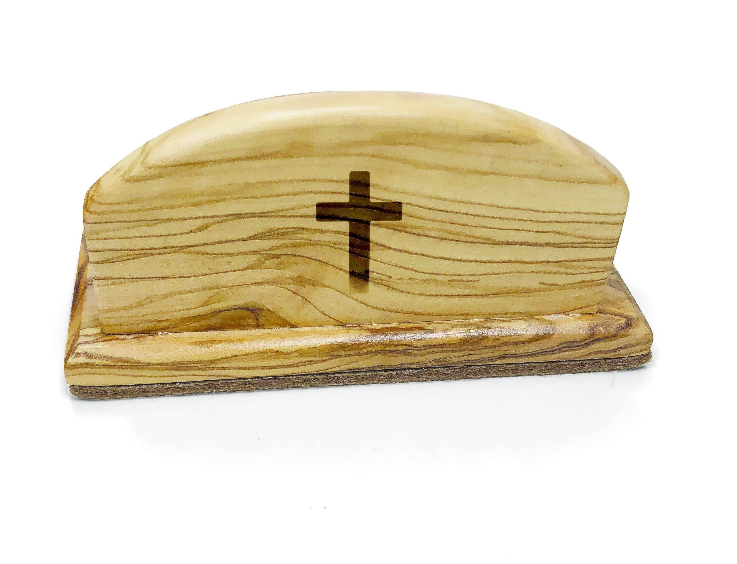 Holy Land Olive Wood Business Card Holder - Logos Trading Post, Christian Gift