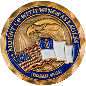 Mount Up with Wings as Eagles Christian Challenge Coin - Isaiah 40:31