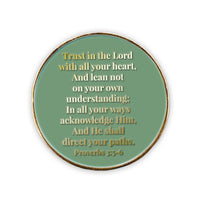 Sacred Heart of Jesus, Christian Challenge Coin, Trust in the Lord, Proverbs 3:5-6 - Logos Trading Post, Christian Gift