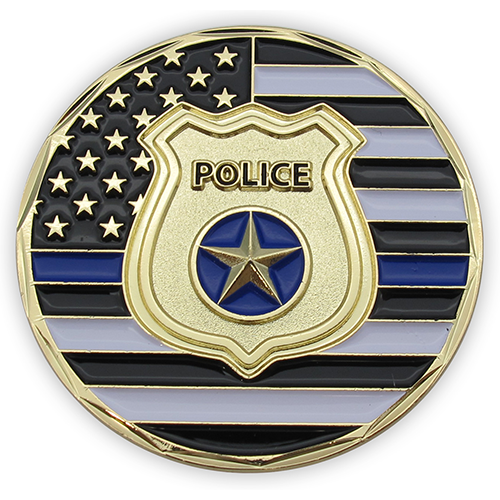Front: Police Department Shield and thin blue line