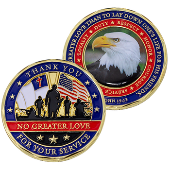 Thank You for Your Service Christian Coin - John 15:13